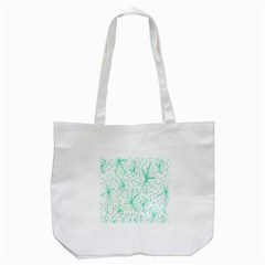 Pattern Floralgreen Tote Bag (white)