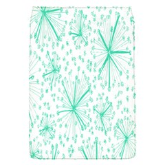 Pattern Floralgreen Flap Covers (s)  by Nexatart