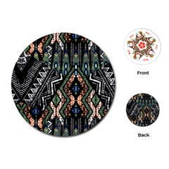 Ethnic Art Pattern Playing Cards (round)  by Nexatart