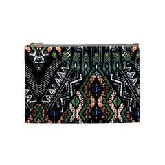 Ethnic Art Pattern Cosmetic Bag (medium)  by Nexatart