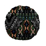 Ethnic Art Pattern Standard 15  Premium Flano Round Cushions Front