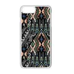 Ethnic Art Pattern Apple Iphone 7 Plus White Seamless Case by Nexatart