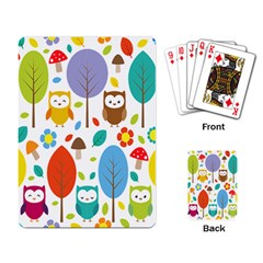 Cute Owl Playing Card by Nexatart