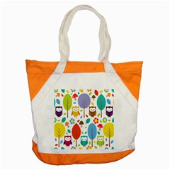 Cute Owl Accent Tote Bag by Nexatart