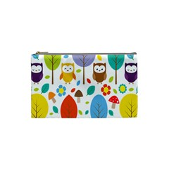 Cute Owl Cosmetic Bag (small)  by Nexatart