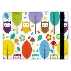 Cute Owl Samsung Galaxy Tab Pro 12 2  Flip Case by Nexatart
