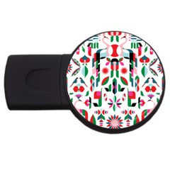 Abstract Peacock Usb Flash Drive Round (4 Gb) by Nexatart