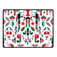 Abstract Peacock Double Sided Fleece Blanket (small)  by Nexatart