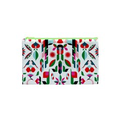 Abstract Peacock Cosmetic Bag (xs) by Nexatart