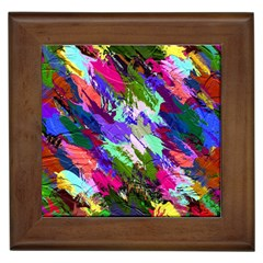 Tropical Jungle Print And Color Trends Framed Tiles by Nexatart
