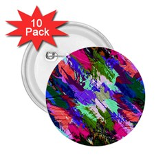 Tropical Jungle Print And Color Trends 2 25  Buttons (10 Pack)
