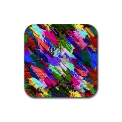Tropical Jungle Print And Color Trends Rubber Coaster (square)  by Nexatart