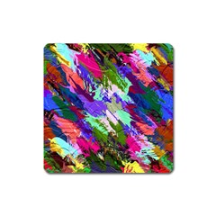 Tropical Jungle Print And Color Trends Square Magnet by Nexatart