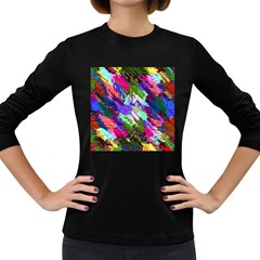 Tropical Jungle Print And Color Trends Women s Long Sleeve Dark T Shirts