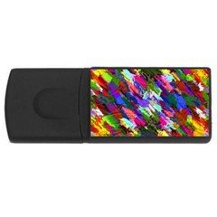 Tropical Jungle Print And Color Trends Usb Flash Drive Rectangular (4 Gb)