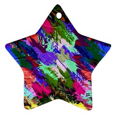 Tropical Jungle Print And Color Trends Star Ornament (two Sides)