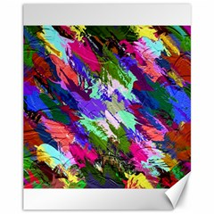 Tropical Jungle Print And Color Trends Canvas 11  X 14   by Nexatart