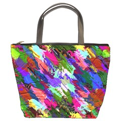 Tropical Jungle Print And Color Trends Bucket Bags by Nexatart