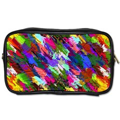 Tropical Jungle Print And Color Trends Toiletries Bags 2 Side by Nexatart