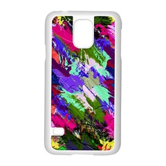 Tropical Jungle Print And Color Trends Samsung Galaxy S5 Case (white)