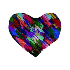 Tropical Jungle Print And Color Trends Standard 16  Premium Flano Heart Shape Cushions by Nexatart