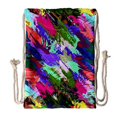 Tropical Jungle Print And Color Trends Drawstring Bag (large) by Nexatart