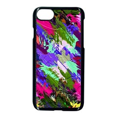 Tropical Jungle Print And Color Trends Apple Iphone 7 Seamless Case (black) by Nexatart