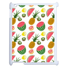 Fruits Pattern Apple Ipad 2 Case (white) by Nexatart