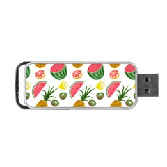 Fruits Pattern Portable Usb Flash (two Sides) by Nexatart