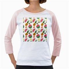 Fruits Pattern Girly Raglans