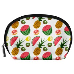 Fruits Pattern Accessory Pouches (large)  by Nexatart