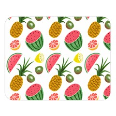 Fruits Pattern Double Sided Flano Blanket (large)