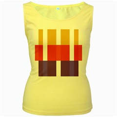 Compound Grid Women s Yellow Tank Top