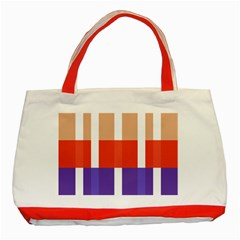 Compound Grid Classic Tote Bag (red)