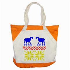 Jacquard With Elks Accent Tote Bag by Nexatart