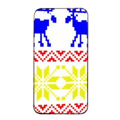 Jacquard With Elks Apple Iphone 4/4s Seamless Case (black) by Nexatart