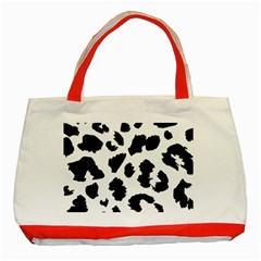 Leopard Skin Classic Tote Bag (red) by Nexatart
