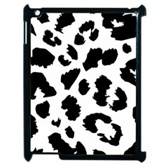 Leopard Skin Apple Ipad 2 Case (black) by Nexatart