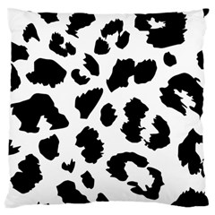 Leopard Skin Large Flano Cushion Case (two Sides) by Nexatart