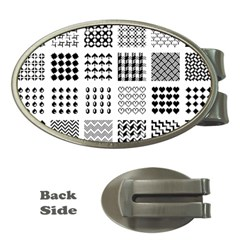 Retro Patterns Money Clips (oval)