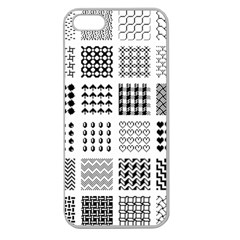 Retro Patterns Apple Seamless Iphone 5 Case (clear)