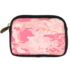 Pink Camo Print Digital Camera Cases by Nexatart