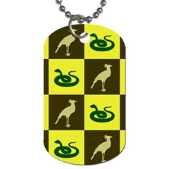 Bird And Snake Pattern Dog Tag (two Sides) by Nexatart
