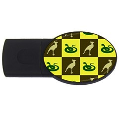 Bird And Snake Pattern Usb Flash Drive Oval (2 Gb) by Nexatart