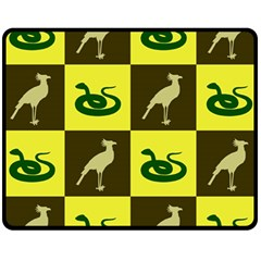 Bird And Snake Pattern Fleece Blanket (medium)  by Nexatart