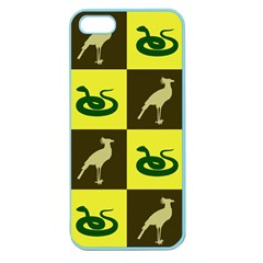 Bird And Snake Pattern Apple Seamless Iphone 5 Case (color) by Nexatart
