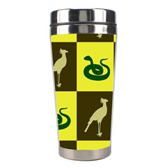 Bird And Snake Pattern Stainless Steel Travel Tumblers by Nexatart