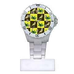 Bird And Snake Pattern Plastic Nurses Watch by Nexatart