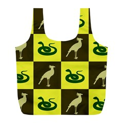 Bird And Snake Pattern Full Print Recycle Bags (l)