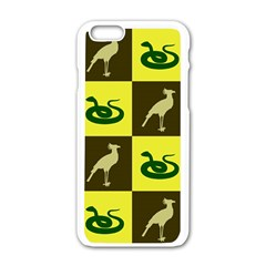 Bird And Snake Pattern Apple Iphone 6/6s White Enamel Case